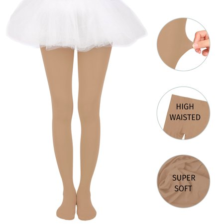b36012c3a1d HDE Girl s Microfiber Tights Opaque Footed Kids Dress Stockings - image 1  ...
