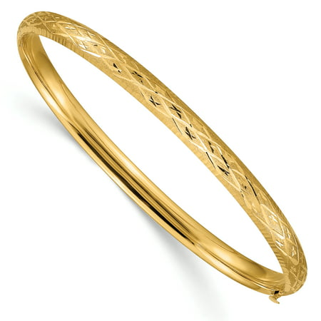 14kt Yellow Gold 4.75mm Hinged Bangle Bracelet Cuff Expandable Stackable Fine Jewelry Ideal Gifts For Women Gift Set From Heart