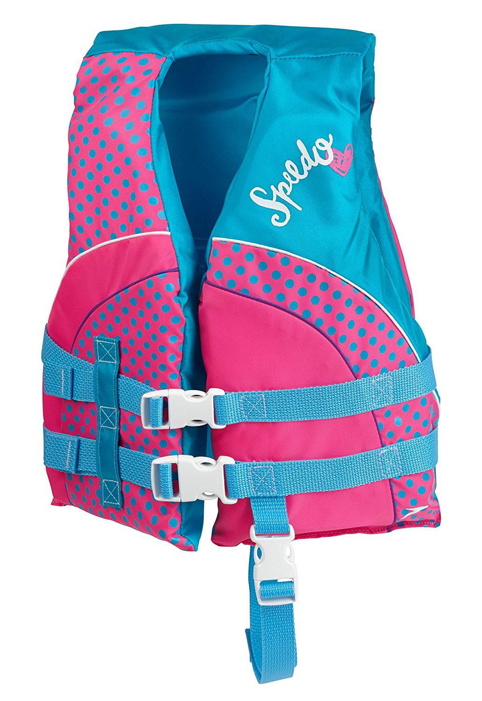 Speedo Begin To Swim Kids Personal Life Jacket Flotation Device, One Size, Berry by Speedo