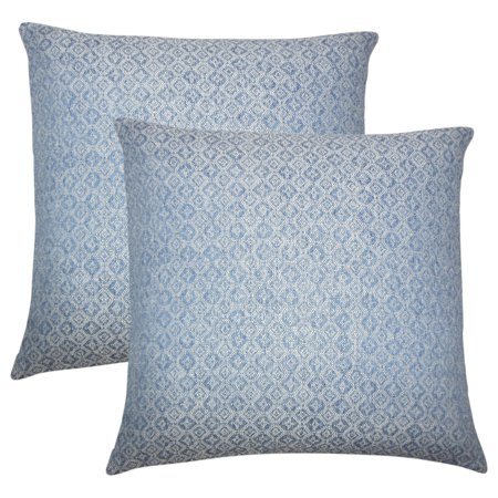 Set of 2 Caitir Solid Throw Pillows in Chambray ()