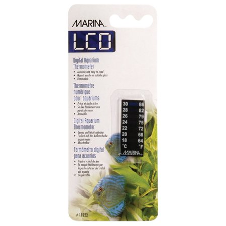 Meridian   64 To 86 Degree Fahrenheit   18 To 30 Degree Celsius  Easy To Mount Thermometer For Glass Aquariums By Marina