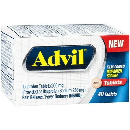 Image of Advil 200 MG Ibuprofen, 40 CT (Pack of 3)