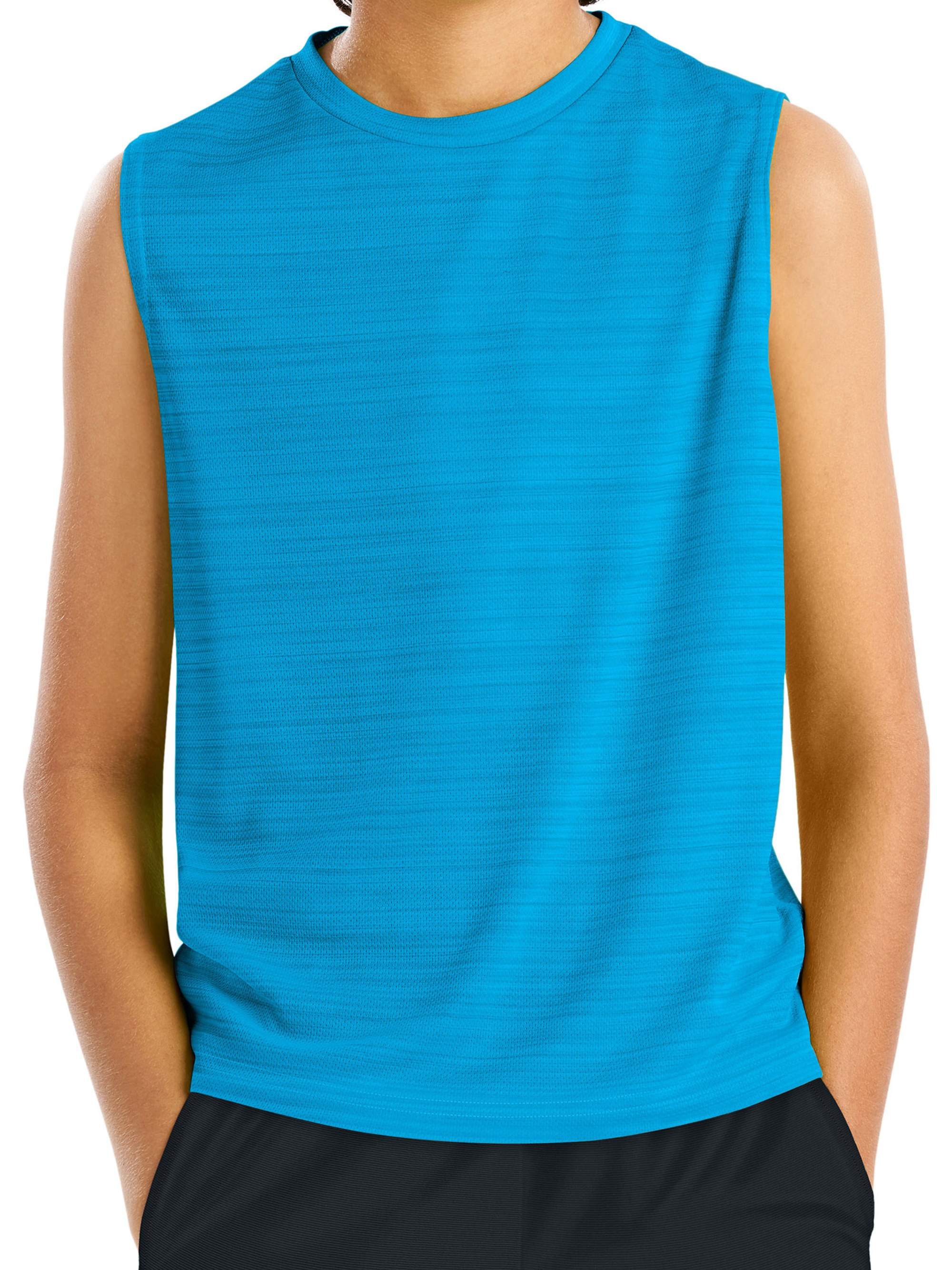 Boys' Sleeveless Heathered Performance Tee