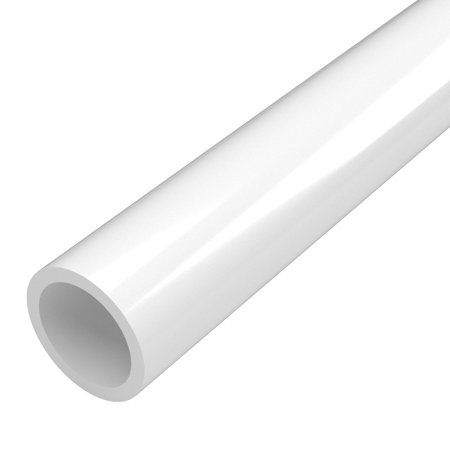 FORMUFIT P114FGP-WH-5 Schedule 40 PVC Pipe, Furniture Grade, 5-Feet, 1-1/4