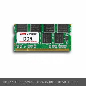 DMS Compatible/Replacement for HP Inc. 317436-001 Presario 2570US 512MB DMS Certified Memory 200 Pin  DDR PC2100 266MHz 64x64 CL 2.5 SODIMM 16 Chip - DMS