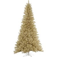 Vickerman 6.5' White-Gold Tinsel Artificial Christmas Tree, Unlit