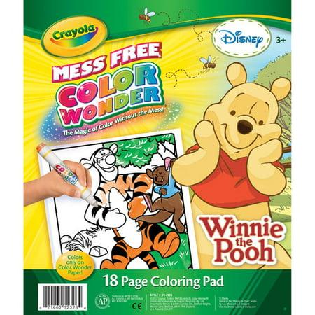 Crayola Disney Winnie the Pooh Color Wonder 18 Page Coloring Pad ...