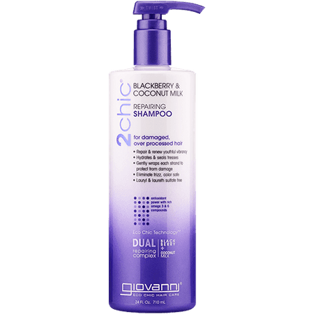 Giovanni, 2chic, Repairing Shampoo, For Damaged, Over Processed Hair, Blackberry & Coconut Milk, 24 fl (Giovanni 2chic Blackberry And Coconut Milk Reviews)