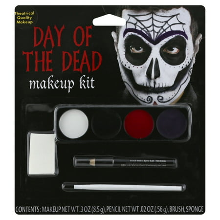 Male Day Of The Dead Makeup Kit Adult Halloween