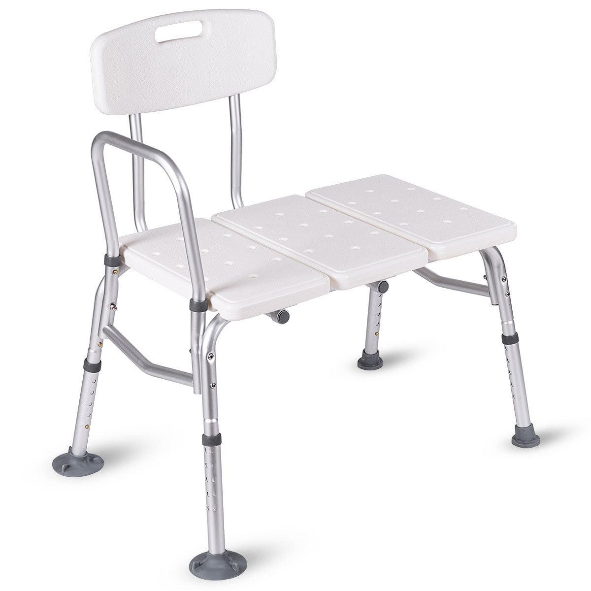 SHIRONI Shower Chair 10 Height Adjustable Bathtub Medical Shower Transfer Bench Bath