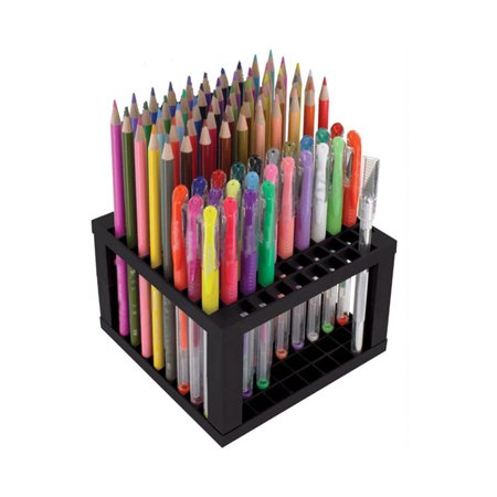 96 Hole Detachable Plastic Pencil & Brush Holder Desk Stand Artist Desk Organizer Paint Marker Storage Organizer for Paint Brushes, Pencils, Markers, Pens and Modeling Tools