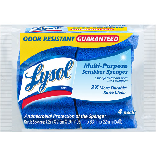 Lysol Multi Purpose Scrubber Sponges, 4pk
