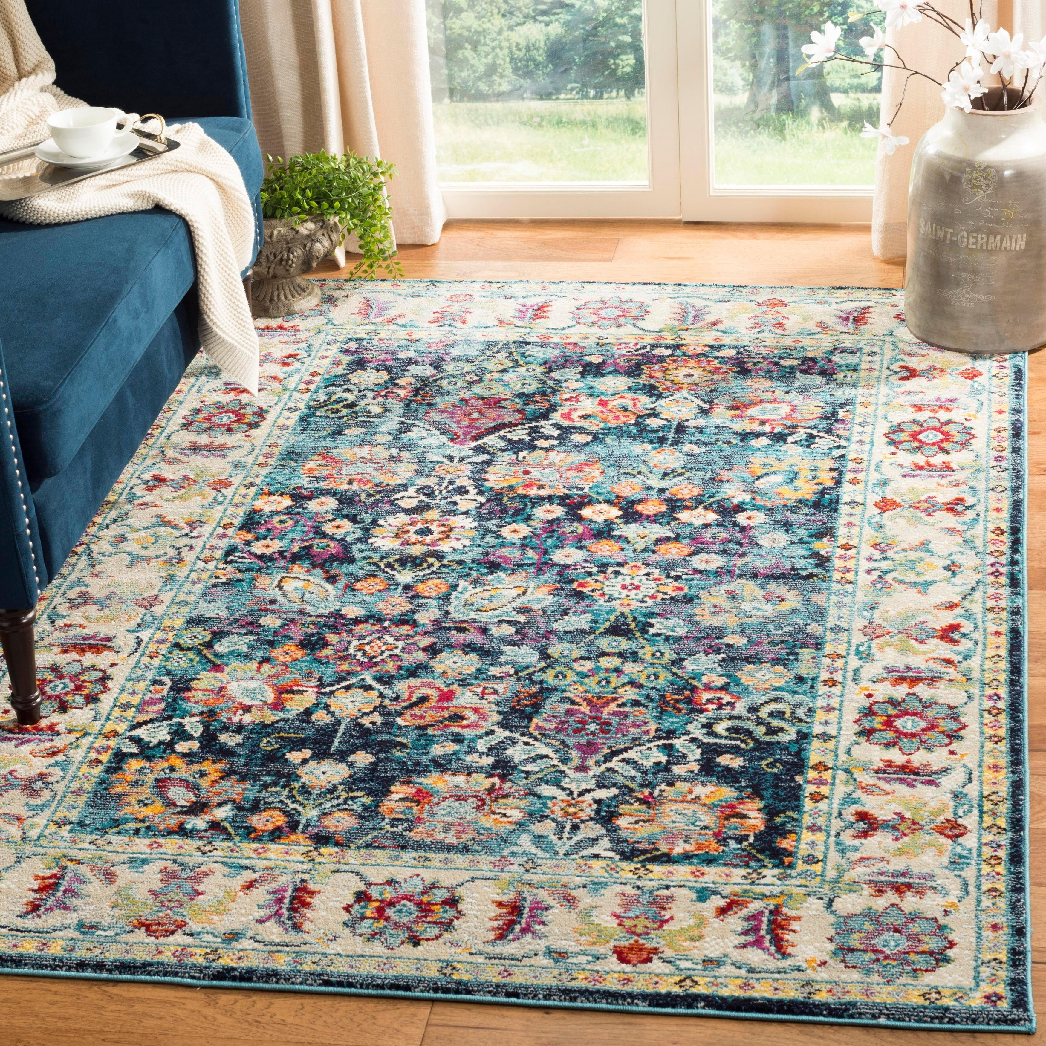 3x5 feet - 26 x 49 Blue Rug Branch Savannah Traditional Area Rug