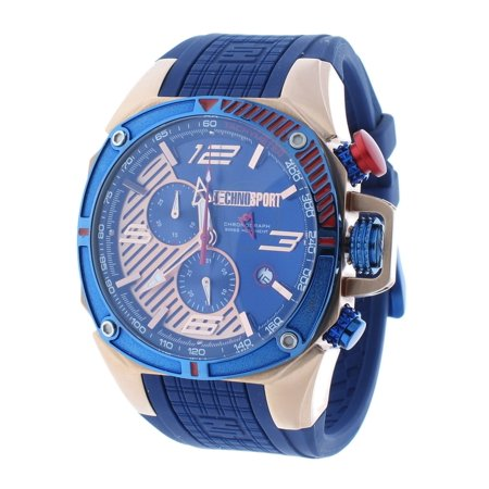 TS-100-8F1 Men's Watch Formula 1 Royal Blue &Rose Gold Swiss Chronograph Date