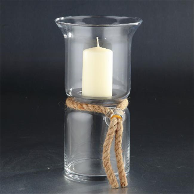 Diamond Star 64561 12 x 6.5 in. Glass Candle Holder, Clear