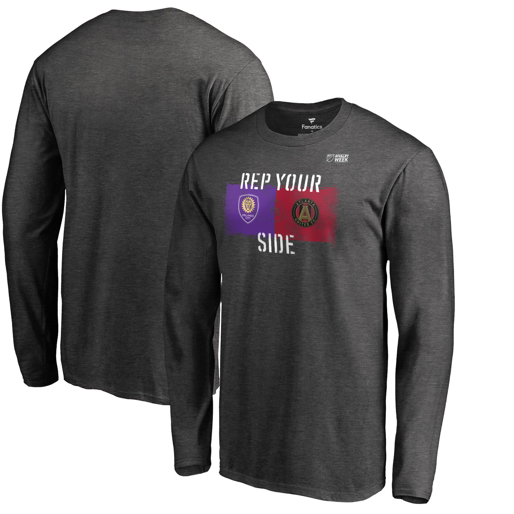 Atlanta United FC vs. Orlando City SC Fanatics Branded 2018 MLS Rivalry Week Goal Keeper Long Sleeve T-Shirt - Heather Gray