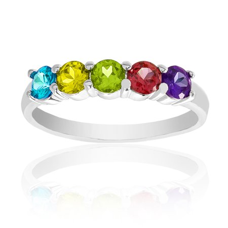 Glass Stone Ring - Multicolored Glass Stone Ring