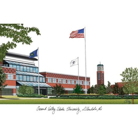- Grand Valley State University Campus Images Lithograph Print