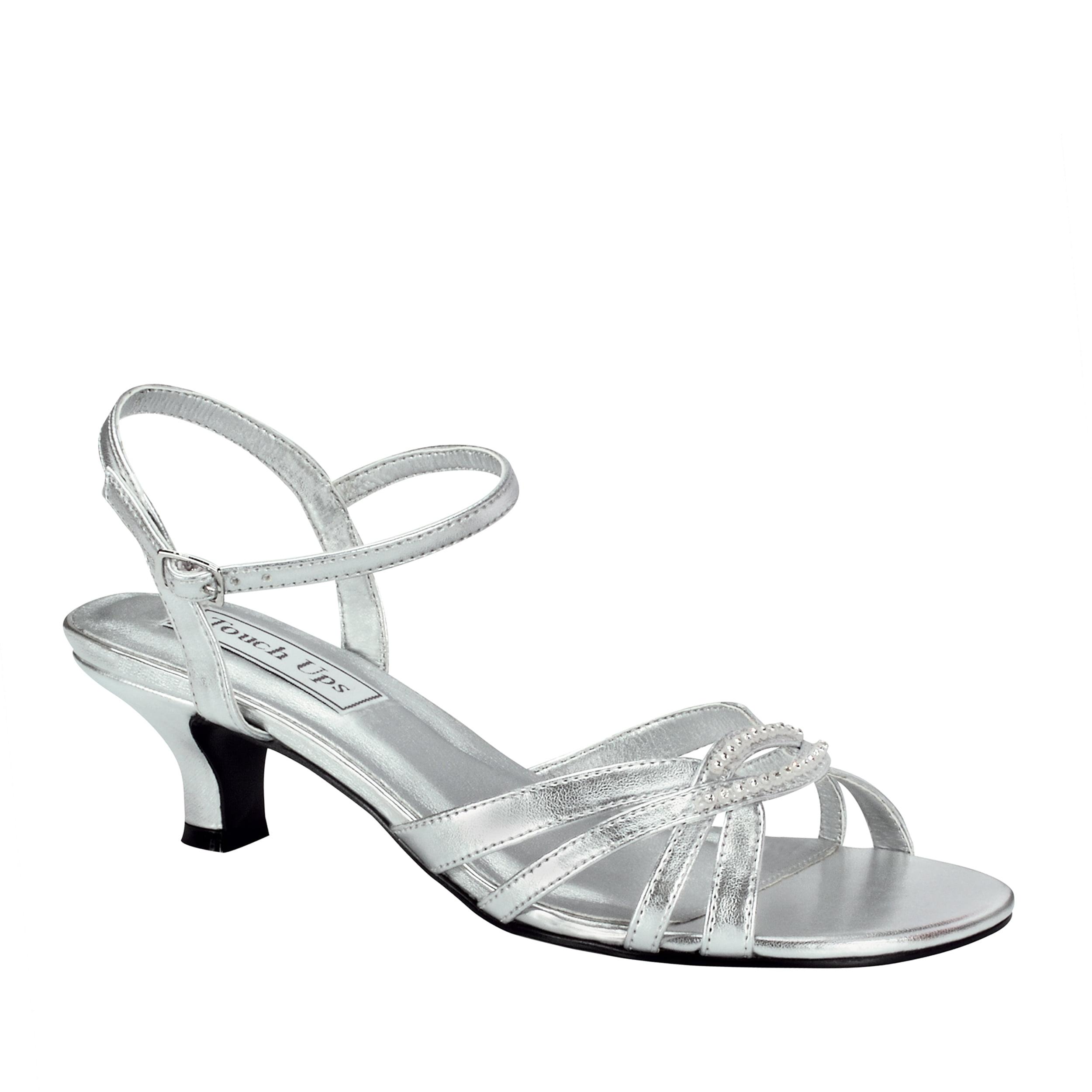 Touch Ups Womens Dakota Sandal,Silver,6.5 W US