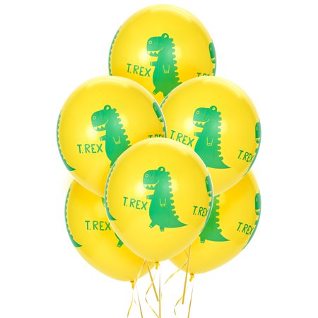 T-Rex Dinosaur Party Supplies 18 Latex Balloons