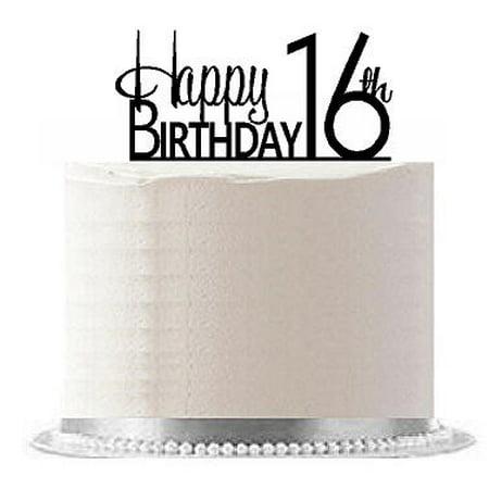 16th Birthday Cake Ideas (Item#AE-119 Happy 16th Birthday Agemilestone Elegant Cake)