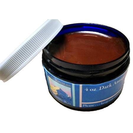 Chalk Mountain Brushes & Waxes - 4oz ALL NATURAL Dark Antiquing Furniture Finishing Paste (Large Brushed Nickel Finish)