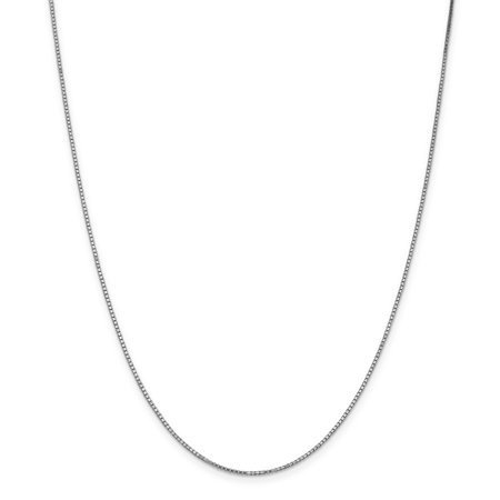 14K White Gold 1.1mm Box Chain 14 Inch - image 4 of 4