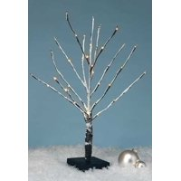 Amusements Battery Operated LED Lighted Warm White Snowy Christmas Twig Tree