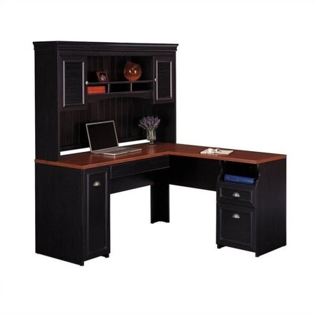Bush Fairview 60 Quot L Shape Computer Desk With Hutch In