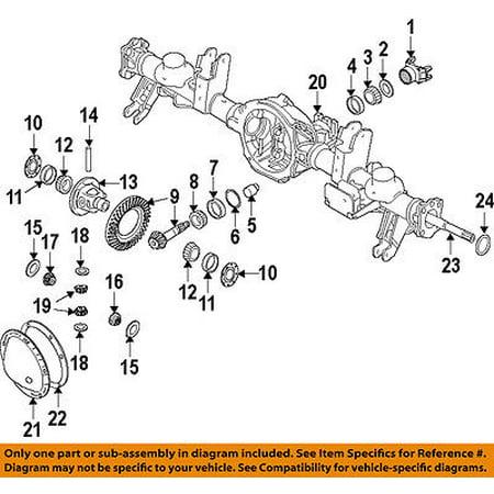 Mopar Ring Pinion - Ram CHRYSLER OEM 13-16 1500 Rear Differential-Ring & Pinion 68088162AE