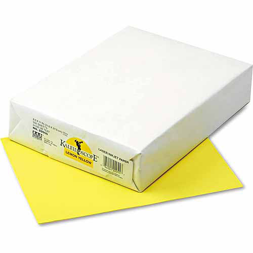 "Pacon Kaleidoscope Multipurpose Colored Paper, 8.5"" x 11"", Lemon Yellow, 500 Sheets"