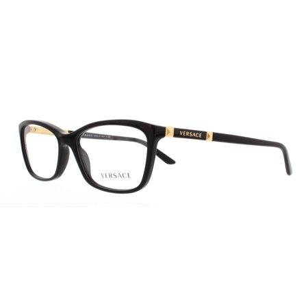 0f669fc01fda VERSACE Eyeglasses VE 3186 GB1 Black 54MM - Walmart.com