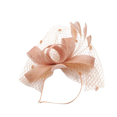 Outtop Fashion Women Fascinator Penny Mesh Hat Ribbons And Feathers Wedding Party Hat (Peacock Fascinator)