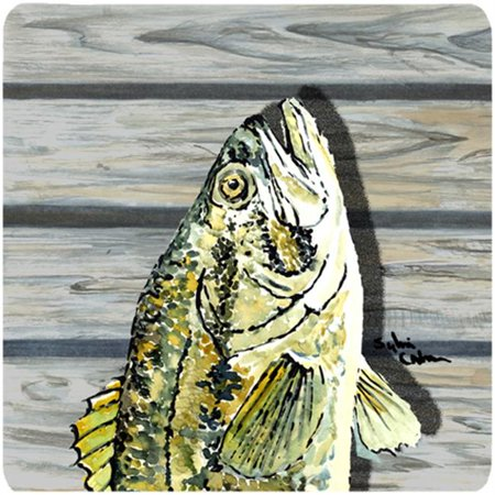 Small Mouth Bass Foam Coasters - Set Of 4, 3.5 x 3.5 In. - image 1 de 1