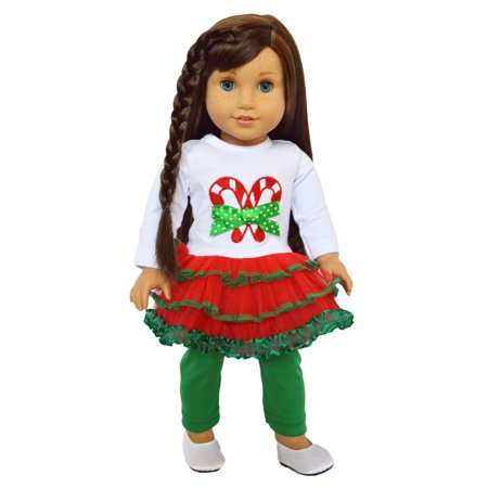 My Brittany's  Santa Dress for American Girl Dolls, My Life as Dolls, 18 inch Doll Clothes, Our Generations Dolls for $<!---->