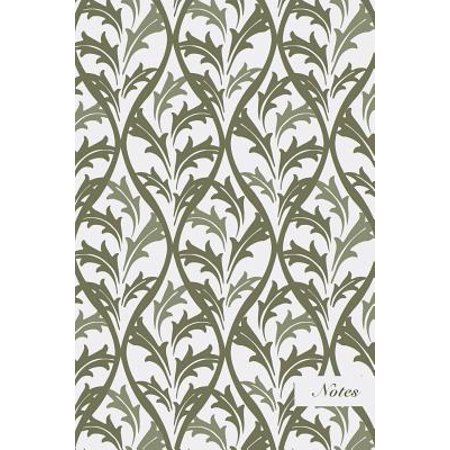 - Notes: 6x9 Blank Lined Page Notebook Curve Spiral Cross Botanic Garden Leaf Seamless Pattern Cover. Matte Softcover Ruled Not