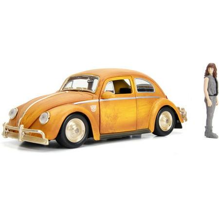 Volkswagen Beetle Diesel - Transformers Bumblebee Movie Volkswagen Beetle Die-cast Car, 1:24Scale Vehicle & 2.75 Charlie Collectible Figurine