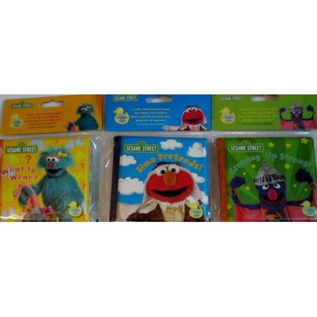3 New Sesame Street soft Bath Time Baby books Elmo Grover - Pretend / Growing - Elmo Finds A Baby Bird