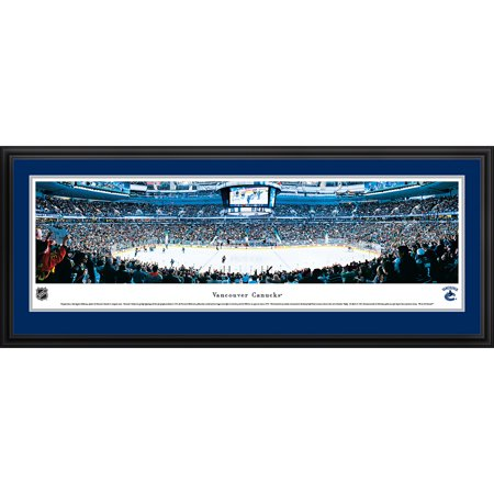 Vancouver Canucks Center Ice at Rogers Arena Blakeway Panoramas NHL Print with Deluxe Frame and Double Mat by
