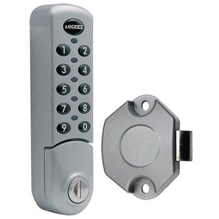 LockeyUSA EC780svslam Digital Combination Electronic Cabinet & Locker Lock,  Silver - Vertical with SLAM Latch
