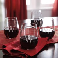 Personalized Stemless Wine Glasses, Set of 4