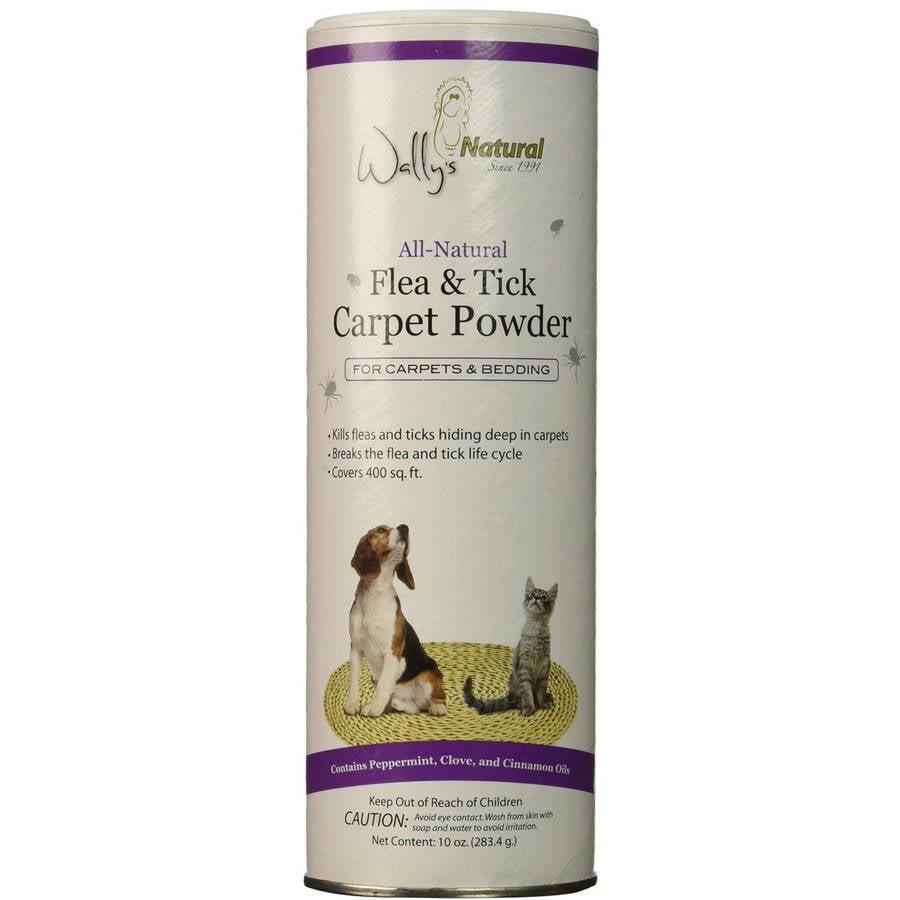 Wally's Natural All Natural Flea and Tick Carpet Powder, 10 oz