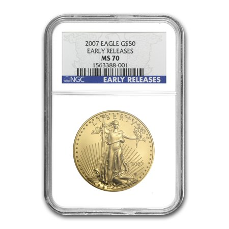 Gold Eagle Ms70 Early Release (2007 1 oz Gold American Eagle MS-70 NGC (Early Releases) )