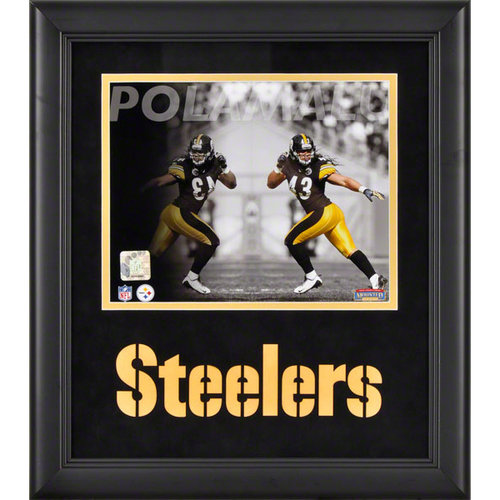 NFL - Troy Polamalu Framed Photograph | Details: 8x10, Reflections, Pittsburgh Steelers