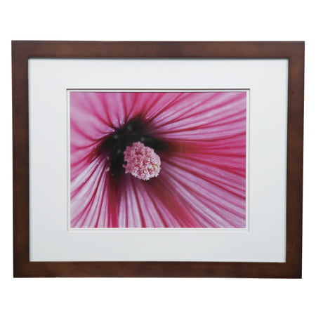Gallery Solutions 16x20 Wide Walnut Frame with Double Mat For 11x14 ...