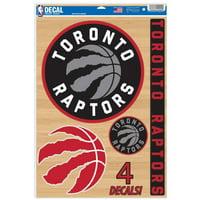 "Toronto Raptors WinCraft 11"" x 17"" Multi-Use Decal Sheet"