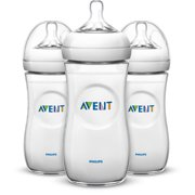 Philips Avent Natural Baby Bottle, Clear, 11oz, 3pk, SCF016/37