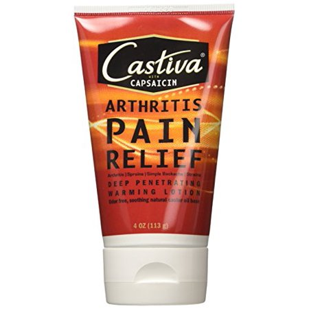 3 Pack - Arthritis Humco Castiva with capsaicin Pain Relief Lotion, Warming 4 oz