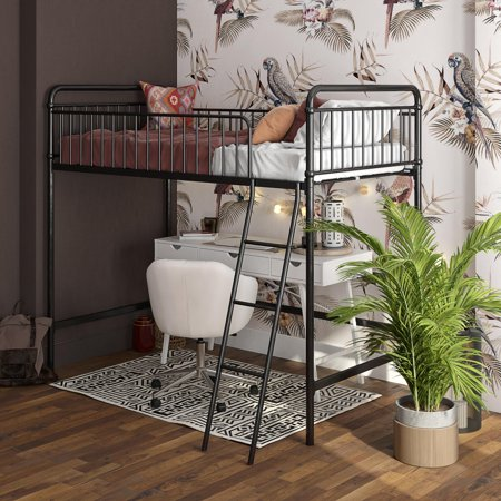 Better Homes & Gardens Kelsey Twin Metal Loft Bed, Multiple Colors ()
