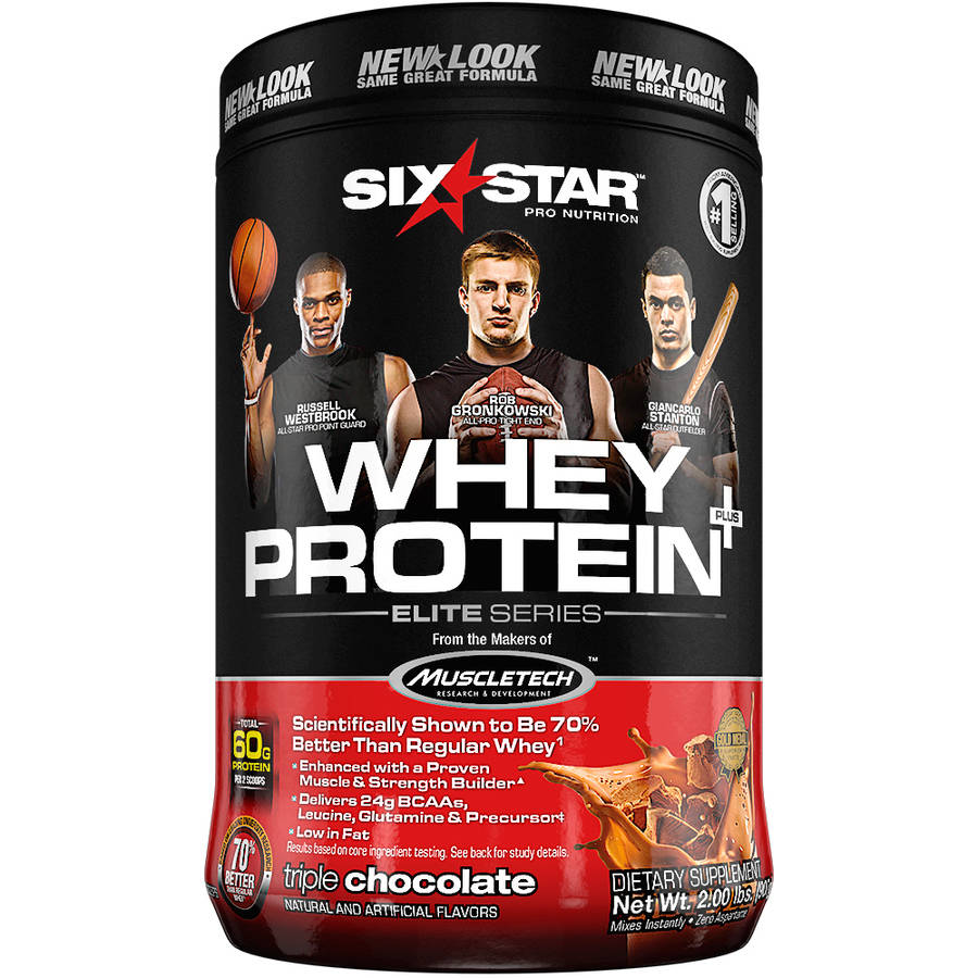 Six Star Pro Nutrition Whey Protein Plus Triple Chocolate, 2 lb